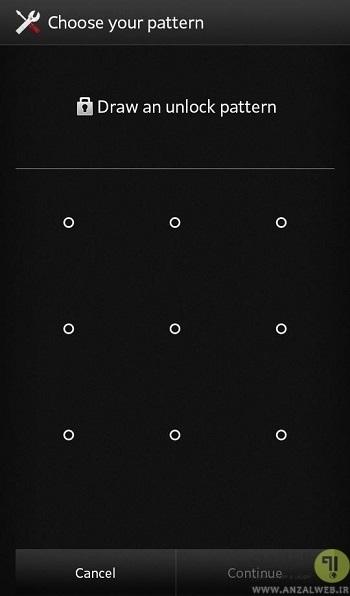 روش سوم : استفاده از قابلیت Forgot Pattern یا فراموشی پترن اندروید