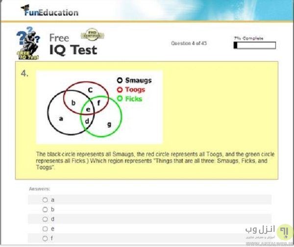 FunEducation's IQ Test