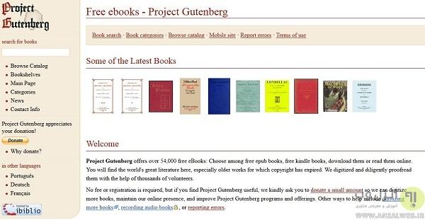 دانلود کتاب خارجی در Project Gutenberg