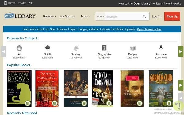 Open Library ، دانلود رایگان کتاب انگلیسی رمان ، علمی ، مهندسی و..