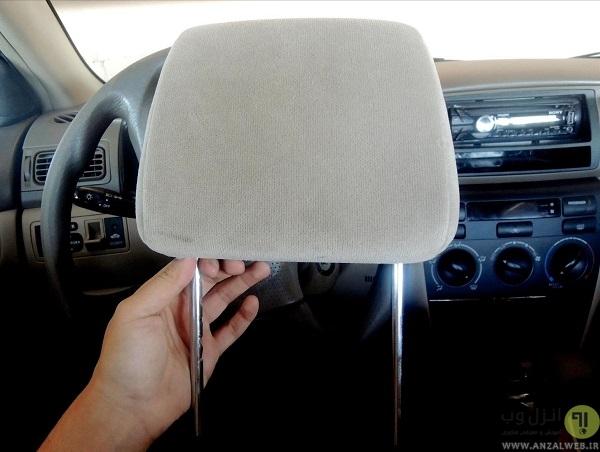 شکستن شیشه ماشین با پشتی صندلی