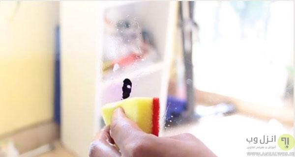 پاک کردن رنگ شیشه