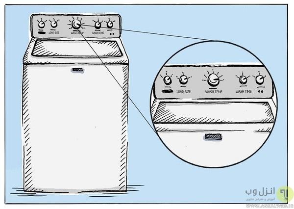 جرم گیری ماشین لباسشویی با سرکه