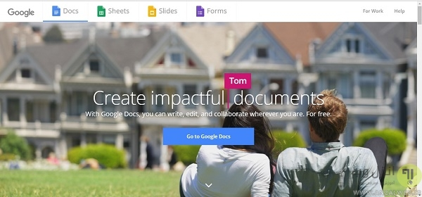 ویراستار متن آنلاین با استفاده از سرویس ویژه ی گوگل Google Docs