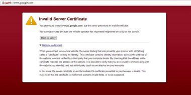 15 راه حل مشکل ارور Certificate در مرورگر گوگل کروم ، فایرفاکس ، ادج ، اینترنت اکسپلورر و..