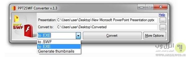 روش تبدیل پاورپوینت به یک فایل خود اجرا یا exe