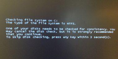 غيرفعال كردن و حذف صفحه چک کردن درایو ها CHKDSK قبل از شروع ویندوز 10 ، 7 ، 8 و..