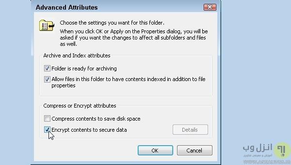 مشکل encrypt خودکار و سبز شدن اسم فایل
