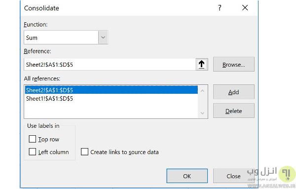 سه روش برای ادغام چند شیت و ترکیب دو یا چند فایل در اکسل
