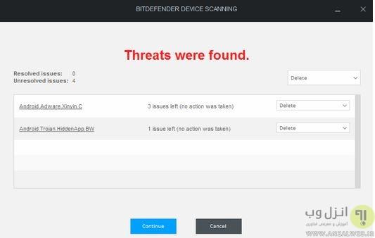 حذف ویروس monkey test در اندروید
