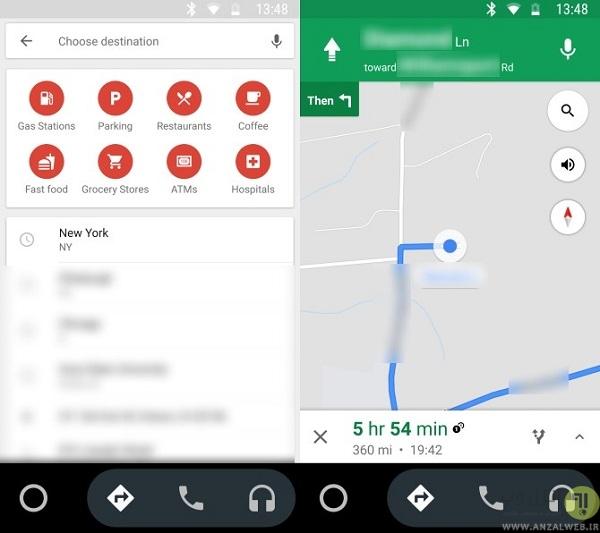 کاربرد اپلیکیشن Android Auto در اتومبیل ها