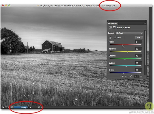 فعال کردن auto save (اتو سیو ) و Background Save (بک گراند سیو) در فتوشاپ