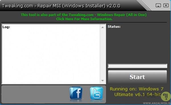 تعمیر سرویس Windows Installer