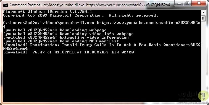 روش دانلود فیلم از مرورگر گوگل کروم با برنامه youtube dl