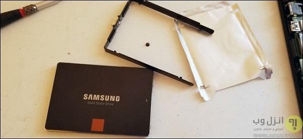 روش نصب هارد SSD لپ تاپ