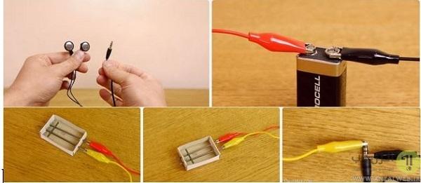 آموزش ساخت میکروفون ساده و حرفه ای با قوطی کبریت و.. در خانه