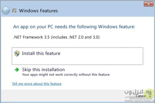 حل مشکل نصب نشدن و آموزش نصب NET Framework در ویندوز 10 ، 8 و 7