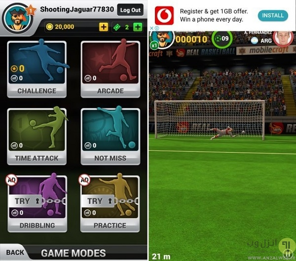دانلود بازی فوتبال Flick Shoot برای اندروید بدون نیاز به دیتا