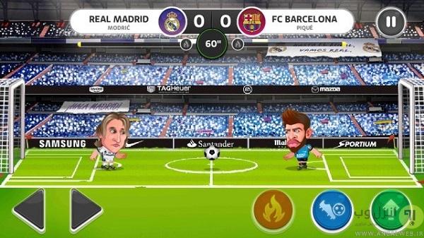 معرفی بازی فوتبال کاریکاتوری Head Soccer La Liga