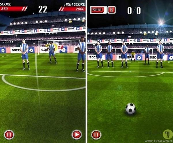 بازی فوتبال سه بعدی Soccer Kicks