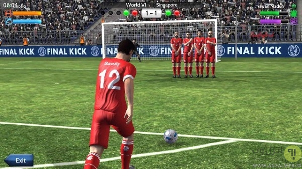 بازی فوتبال محلی Final Kick