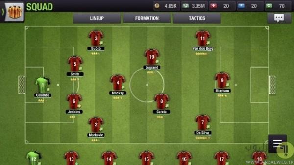 Eleven یک بازی رایگان فوتبال