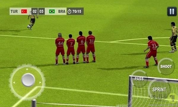 بازی فوتبال اندروید آفلاین Real World Soccer League