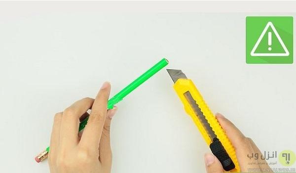 آموزش ساخت قلم موبایل با فویل