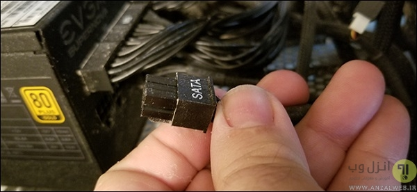 نحوه جدا کردن پاور از کیس کامپیوتر