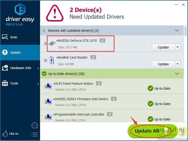 مشکل باز نشدن NVIDIA GeForce Experience به علت نصب اشتباه درایو