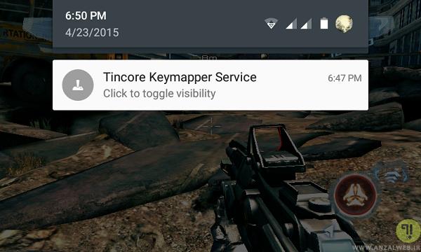 تنظیم نرم افزار Tincore Keymapper برای اتصال دسته بازی به گوشی اندرویدی