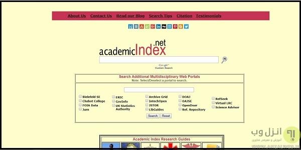 معرفی وب سایت جستجوی PDF و Word آکادمیک ایندکس
