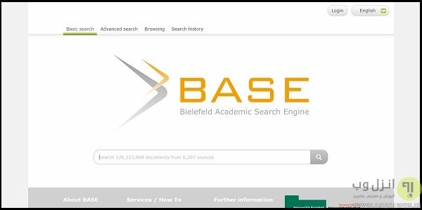 موتور جستجو Base search برای دانلود مقالات پی دی اف