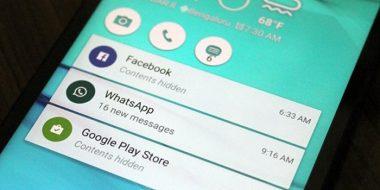 آموزش عدم نمایش متن پیام و پیغام برنامه ها در صفحه قفل (Lock Screen) اندروید