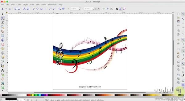Inkscape یک نرم افزار ویرایش فایل AI