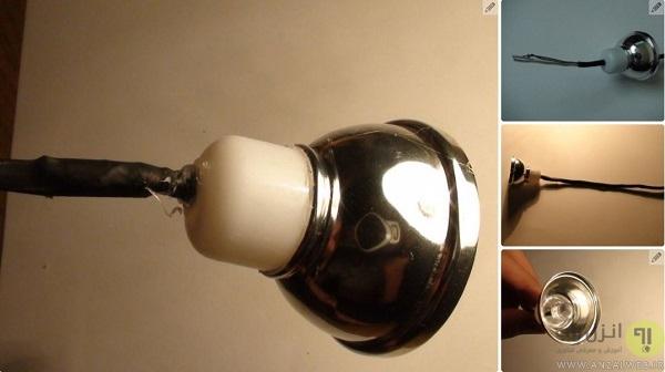 آموزش ساخت چراغ LED یو اس بی