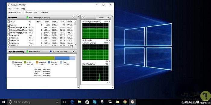 11 روش رفع مشکل پر شدن رم ویندوز کامپیوتر و لپ تاپ در ویندوز 10 ، 8 و 7