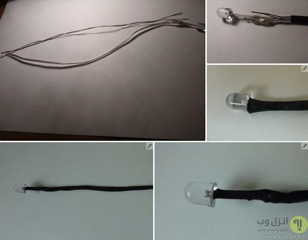 سیم کشی برای ساخت چراغ مطالعه
