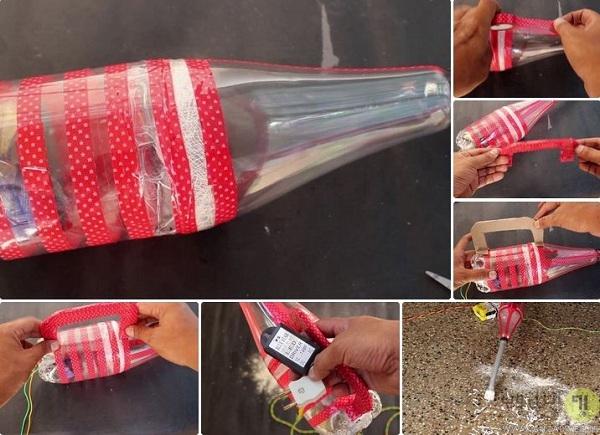 نحوه ساخت جاروبرقی با بطری