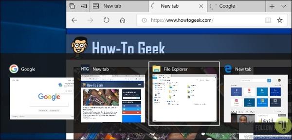 تغییر کاربری کلیدهای ترکیبی Alt و Tab در بروزرسانی ویندوز 10