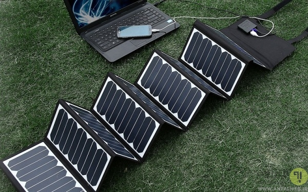 ترکیب پاور بانک با پنل انرژی خورشیدی