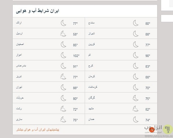 AccuWeather - بهترین سایت هواشناسی ایران و جهان