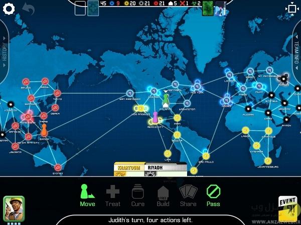 بازی Pandemic: The Board Game برای گوشی های اندروید