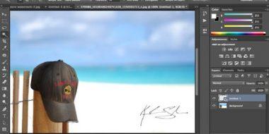 آموزش 6 روش قرار دادن واترمارک روی عکس در فتوشاپ Photoshop