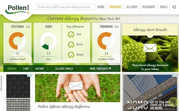 Pollen – بهترین سایت پیش بینی آلرژی