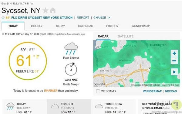 Underground - بهترین سایت پیش بینی هوا برای مناطق روستایی