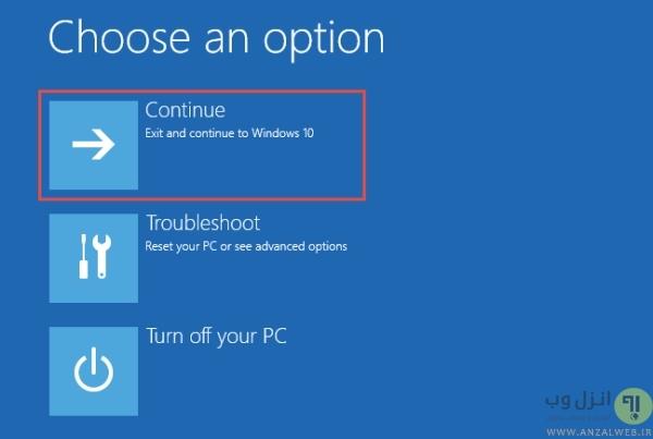استفاده از دیسک ویندوز و Command Prompt برای راه اندازی حالت سیف مود برای ویندوز 10 و 7