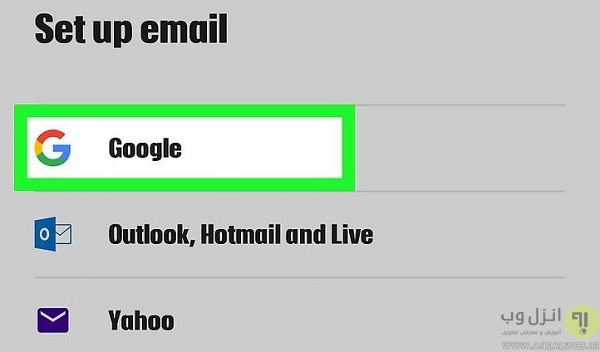بازیابی پسورد جیمیل با استفاده از اپلیکیشن Gmail