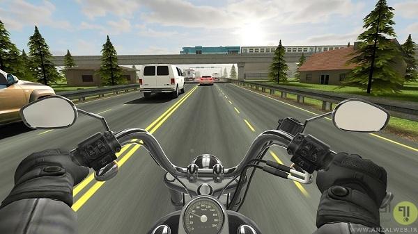 Traffic Rider - بازی ماشین گرافیک بالا اندروید