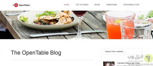 بررسی کیفیت غذا رستوران در opentable